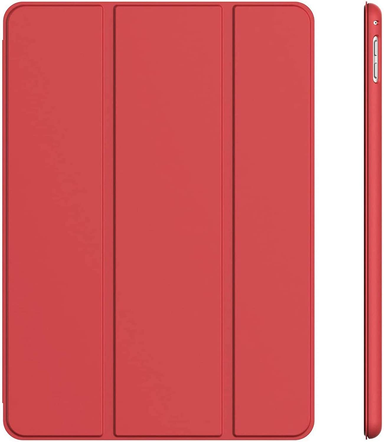 JETech Case for iPad Pro 9.7-Inch (2016 Model), Smart Cover Auto Wake/Sleep, Red