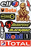 Sponsor Decal Sticker Tuning Racing Sheet Size: 27 x 18 cm for Car or Motorbike