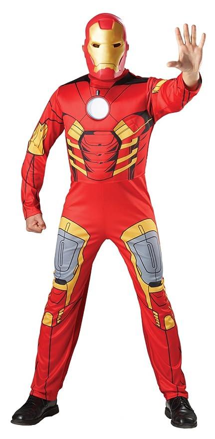 Avengers - Disfraz de Iron Man musculoso, para adulto (Rubies 880945)