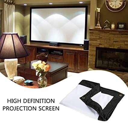 Projector Curtain Projection Screen Theater Office Church Home Cinema Weddings