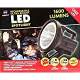 HV Professional Heavy Duty Rechargeable Bright LED Torch Spot Light 1600 Lumens