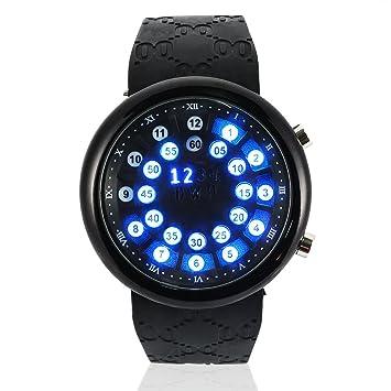Reloj LED 2 Tipos Relojes Digitales para Hombres a Prueba de Agua 10m con Correa de Silicona Regalos(Negro): Amazon.es: Deportes y aire libre