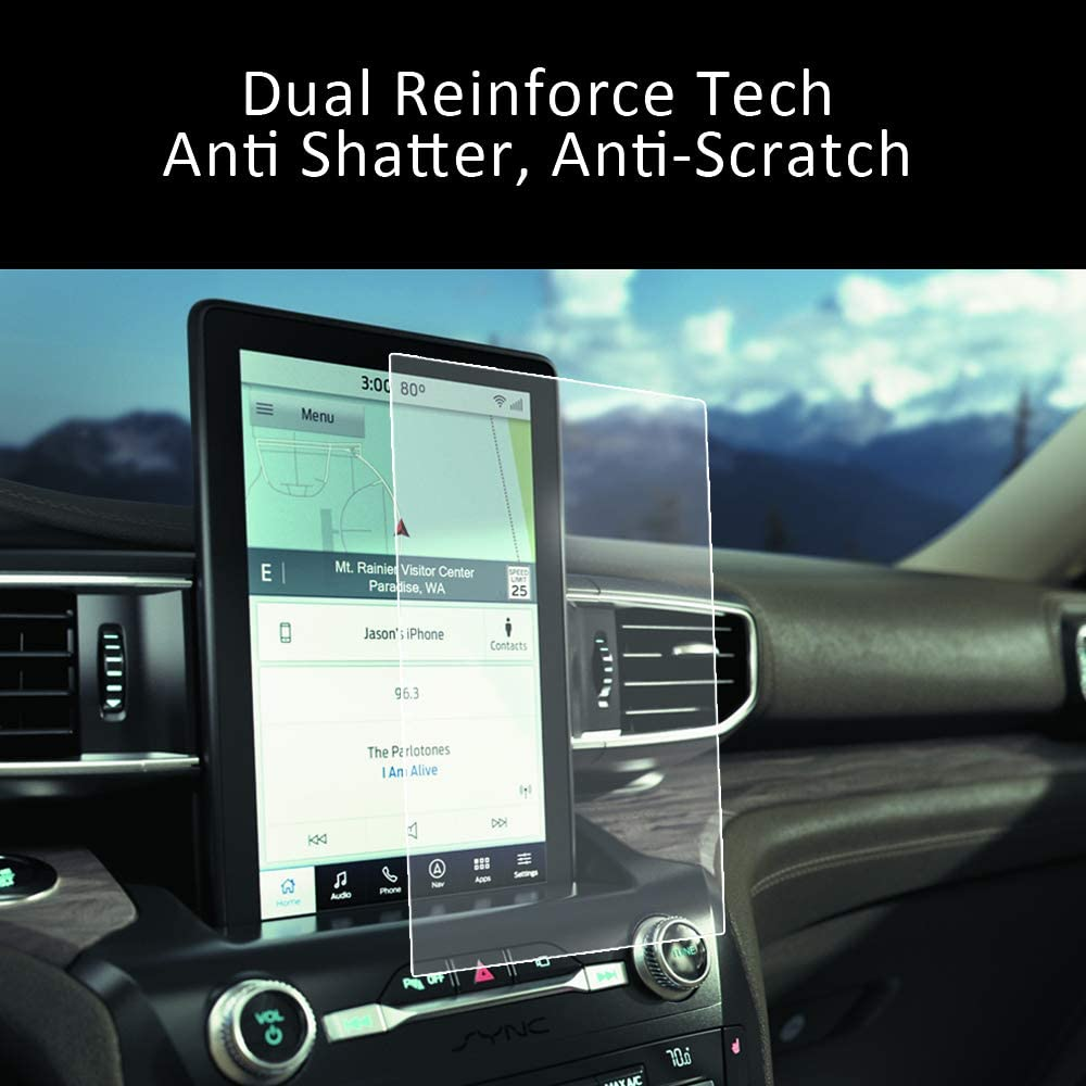 2020 Ford Explorer Screen Protector for ST Radio Touch 10.1 inch INNOSURE Matte Tempered Glass Screen Protector Anti Glare Oleophobic Coating Anti Fingerprint Shock Resitanct