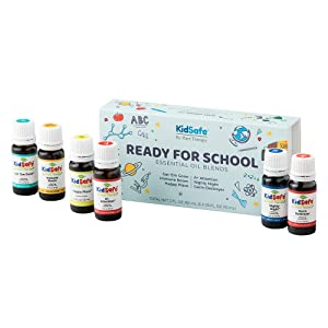 Plant Therapy Ready For School KidSafe Essential Oil Blends Set 100% Pure, Undiluted, Therapeutic Grade