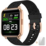 Smart Watch Fitness Tracker for Women Men Activity Watch and Heart Rate Monitor Waterproof Smart Bracelet with Sleep Monitor