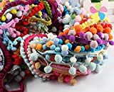 12yards/lot(1yard/pc) 10-15mm Mixed Colors Pom