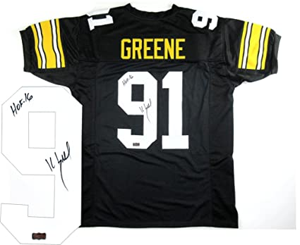 cbce9278cf0 Image Unavailable. Image not available for. Color: Kevin Greene Signed  Pittsburgh Black Custom Jersey ...