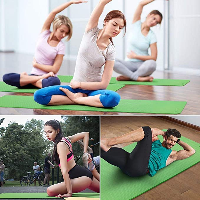 Amazon.com: AOLI Gym Home Outside Yoga Mat Fitness Goat Yoga ...
