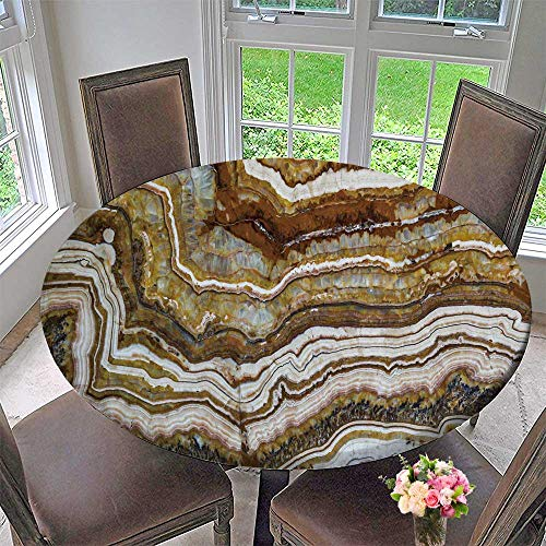 PINAFORE HOME Round Tablecloth Marble Texture Granite Layers Design Grey Stone Slab Surface Grain Rock Backdrop Background for Kitchen 67