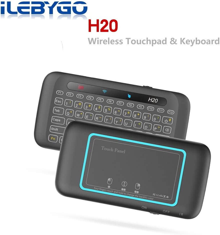 Calvas 2.4Ghz Mini Wireless Keyboard Touchpad Mouse Touch Panel Handheld Remote Control Fly Air Mouse for PC,Android Tv Box,HTPC.IPTV