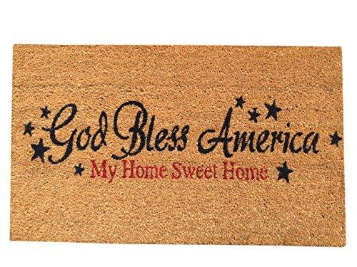 God Bless America Coir Door Mat (18