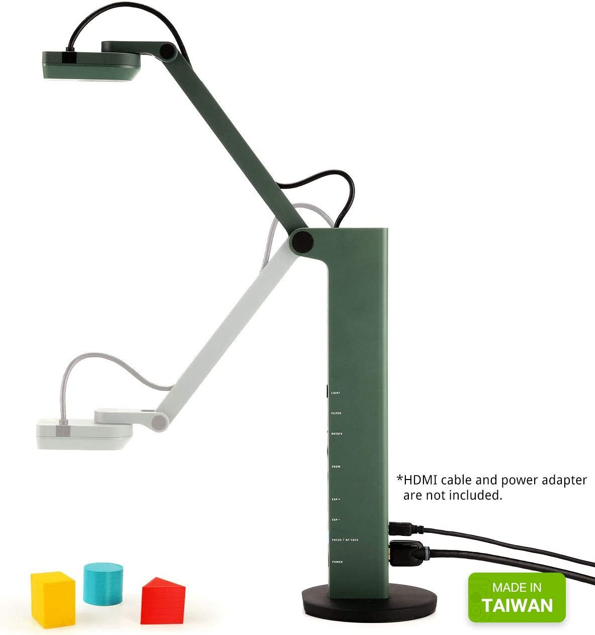 Ipevo VZ-R HDMI/USB Dual Mode 8MP Document Camera — Mac OS, Windows, Chromebook Compatible for Live Demo, Web Conferencing, Remote Teaching, Distance Learning, 8 Megapixel (5-883-4-01-00) : Camera & Photo