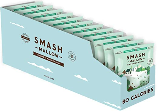 SMASHMALLOW Chip de chocolate de menta apilable Marshmallows ...