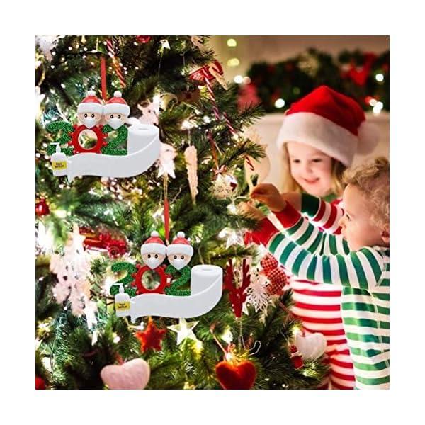 Sopravvissuto Famiglia Ornamento 2020 Quarantena Personalizzato Ornamenti di Natale Decorazioni per L'Albero di Natale Ornamenti Famiglia di Albero di Natale Ornamento Home Decor Regali di Natale 6 spesavip