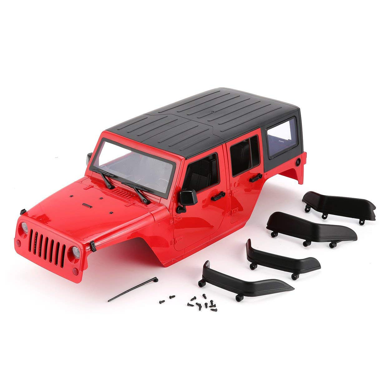 Lorenlli Hartplastik Auto Shell Kö rper DIY Kit Fü r 313mm Radstand 1/10 Wrangler Fit Jeep Axial SCX10 RC Auto Crawler Fahrzeug Modell
