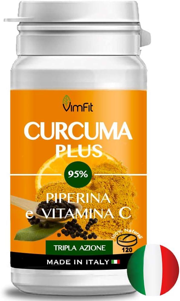 61 opinioni per Vimfit Curcuma e Piperina Plus Vitamina C ,120 cpr ad Alto Dosaggio di Curcumina
