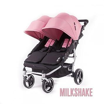 Baby Monsters- Silla Gemelar Easy Twin 3.0.S (Silver) - Color Rosa Milkshake + REGALO de un bolso de polipiel (capota normal) Danielstore: Amazon.es: Bebé