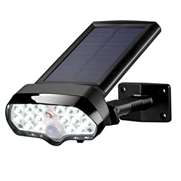 Perfect Solar Motion Sensor Light, Sunix Solar Security Light IP65 Waterproof Outdoor  Solar Wall Light,