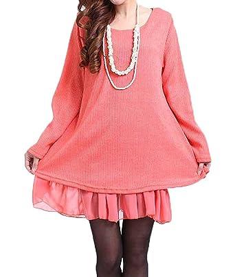 Maglie Lunghe Donna per Leggings Invernali Moda Pullover