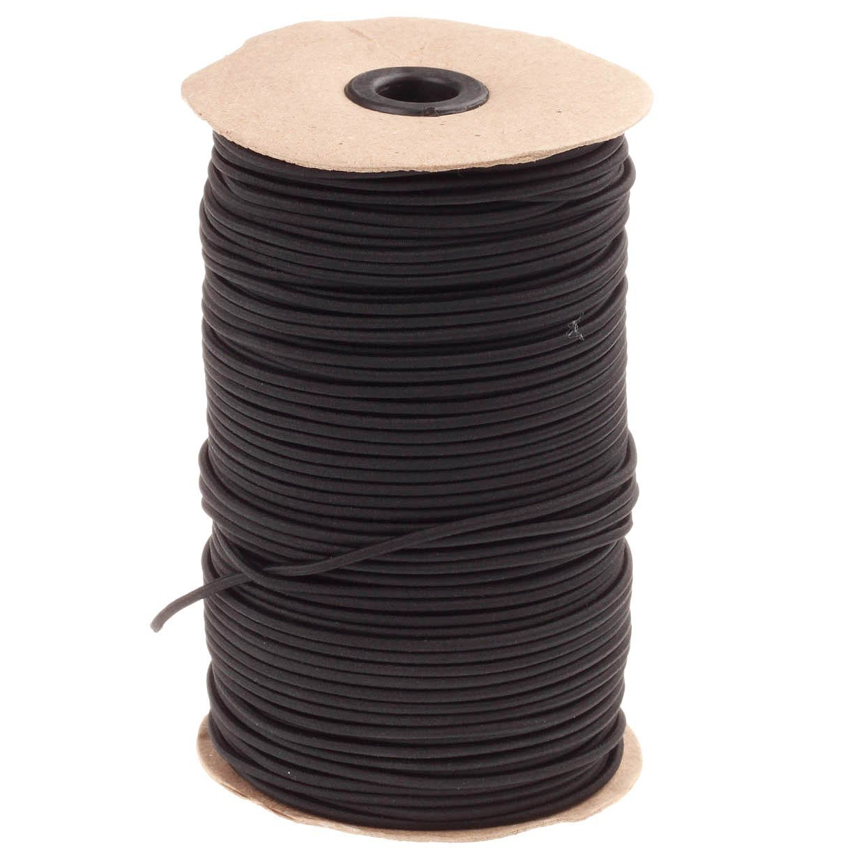 COTOWIN 144 Yards 1/8-Inch (3 mm) Black Heavy Round Cord Elastic Spool by COTOWIN