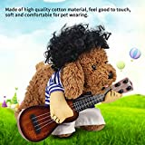 Brrnoo Pet Christmas Player, Funny Dog Cat Costume Guitar Puppy Dress Halloween Party with Wig(M)