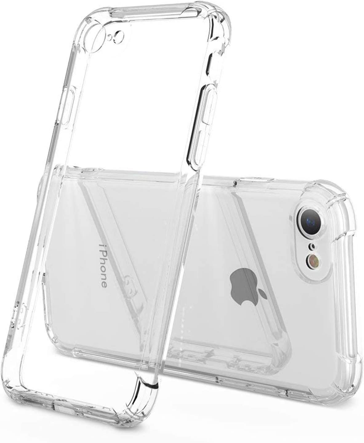 ANHONG iPhone SE2 2020/7 / 8 Case, iPhone SE 2020/7 / 8 Case with Shock Absorption Bumper Protective Heavy Duty Case for iPhone SE2 2020/7 / 8 - Crystal Clear