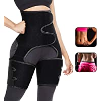 Aiooy Midjetränare, midja lår trimmer, waist trainer bälte, justerbar 3-i-1 kvinnor träningsbälte för midjestöd sport…