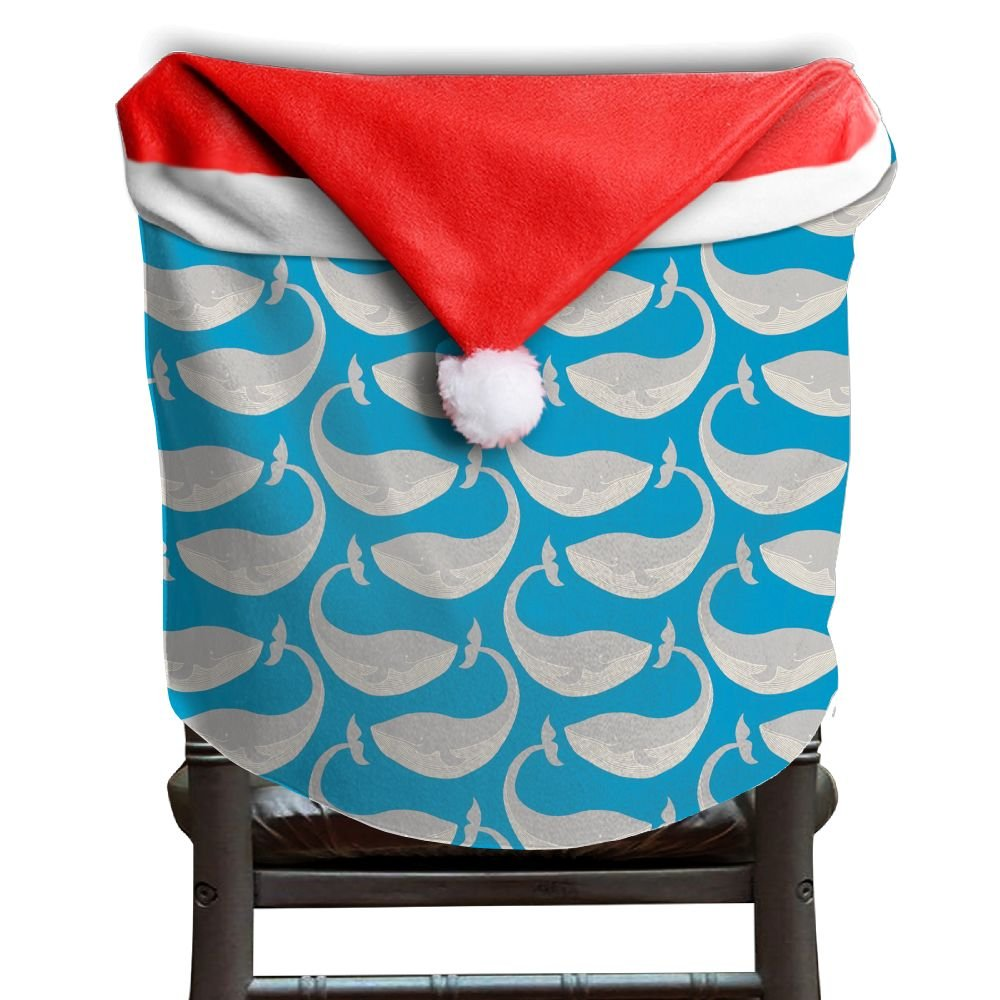 Whale Animal Christmas Chair Covers Classic Comfort Touch Hang Around Chair For Boyfriends Chair Back Covers Holiday Festive