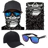 eONE フェイスマスク コスプレ 仮装 マスク サングラス キャップ セット (M01)