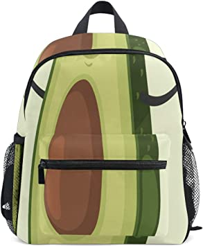 Amazon Com Small School Backpack Cute Avocado Cartoon Character Makes The Jump Rope Toddler Backpack Small Perfect Size With Front Chest Buckle For School Travel Kids Backpacks