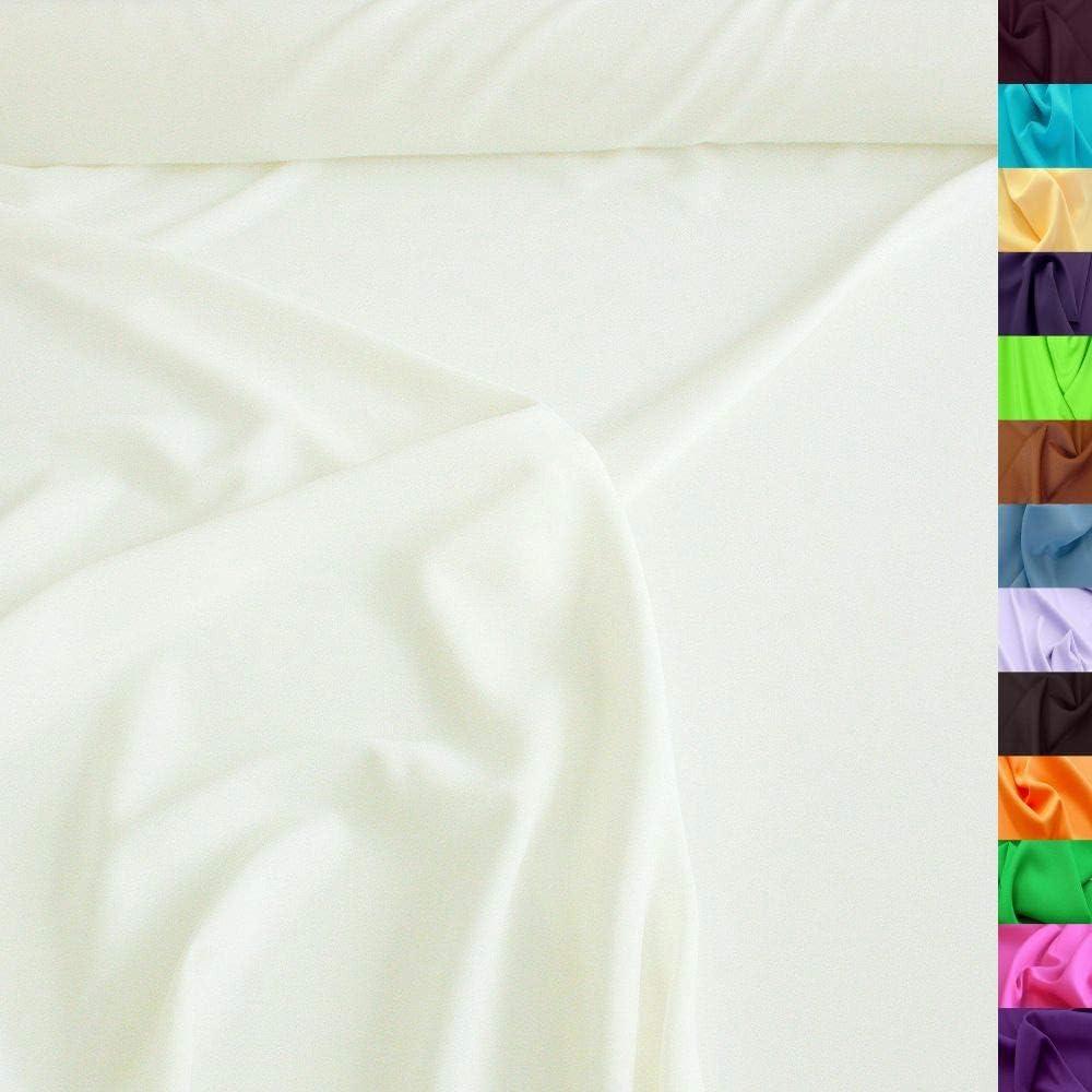 Tolko Modestoff Dekostoff Universal Stoff Zum Nähen Dekorieren Blickdicht Knitterarm 150cm Breit Meterware Creme Weiß Bekleidungsstoffe Dekostoffe Vorhangstoffe Nähstoffe Basteln Patchwork Deko Küche Haushalt