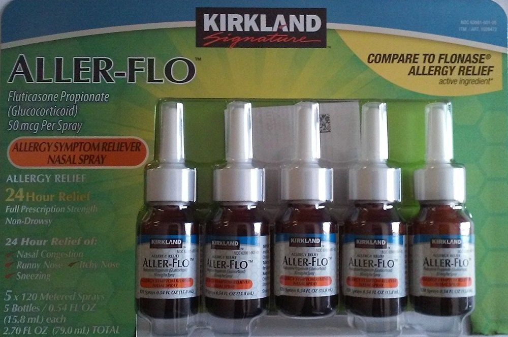 Kirkland ggIEGm Aller-Flo Fluticasone Propionate (Glucorticoid), 5 Bottles (4 Pack)