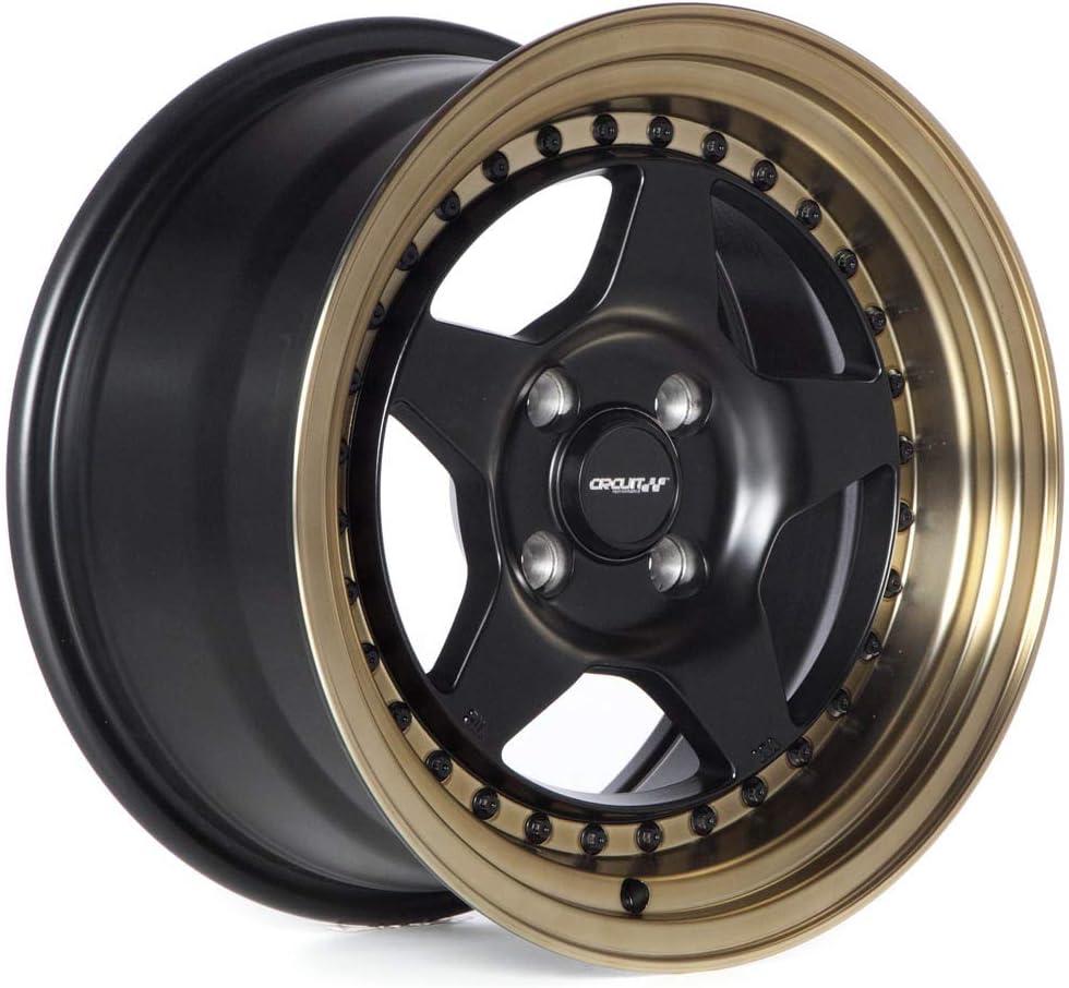 Circuit Performance CP26 15x8 Flat Black 4-100 +25mm