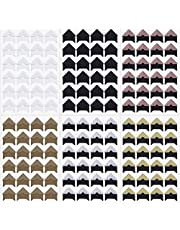 Penta Angel Photo Mounting Corners Stickers 6 Sheets Self Adhesive Paper Picture Stickers Holder for DIY Scrapbooking Photo Album Personal Journal Diary (Black, White, Gold, Rose Gold, Silver, Brown)