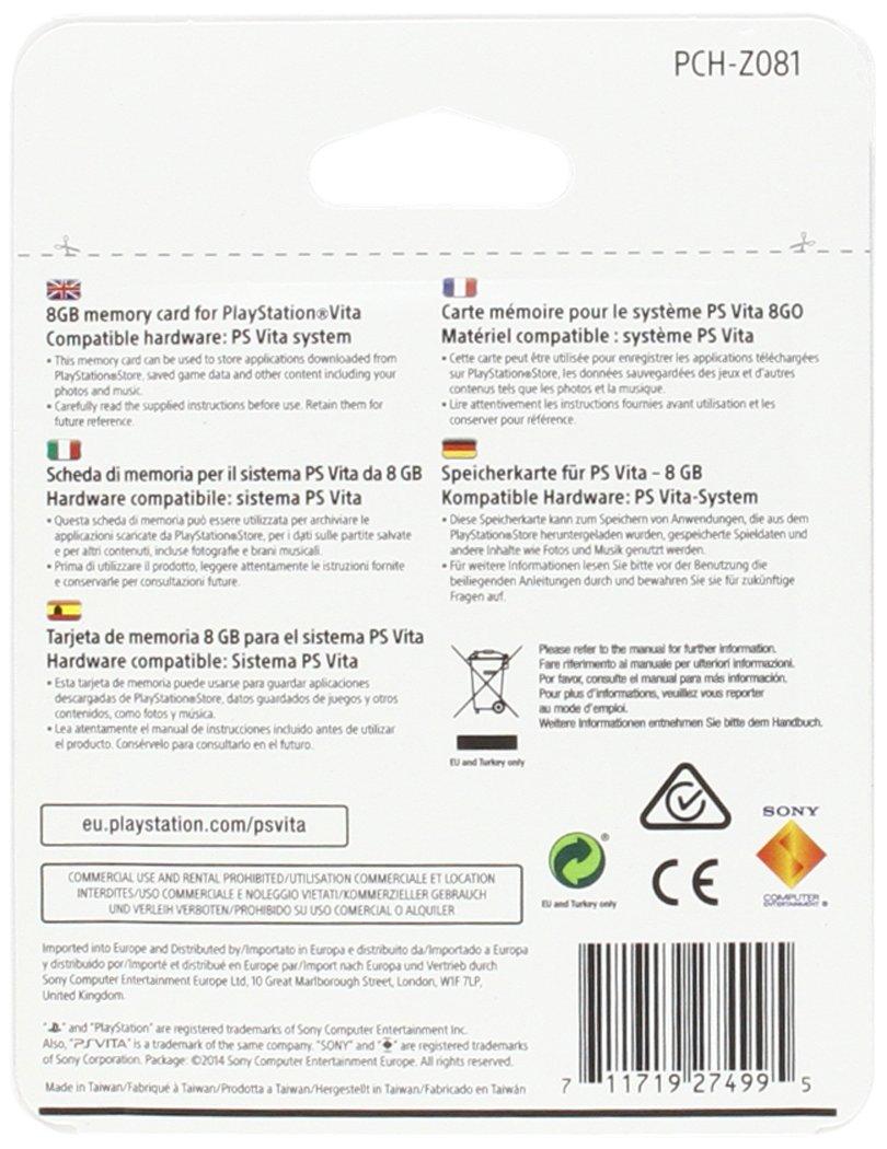 Sony - Tarjeta de Memoria, 8 GB (PS Vita): Amazon.es ...