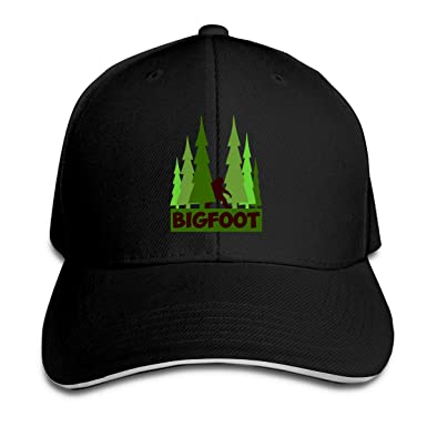 dea4db09a9a Image Unavailable. Image not available for. Color  Tree Bigfoot Forest  Sandwich Baseball Cap ...
