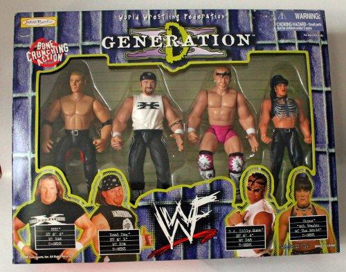 WWF D-Generation X Box Set - Triple H, Road Dog, Billy Gunn & Chyna by WWF