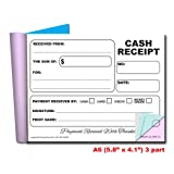 Cherry Carbonless Cash Receipt Book, 3-Part, with