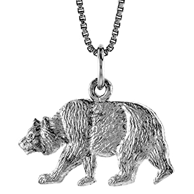 Amazon sterling silver bear pendant 12 inch jewelry sterling silver bear pendant 12 inch aloadofball Images