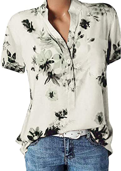Mimacoo Cute Print Shirt for Womens Short Sleeve Tee Crew Neck Pullover Letter Printed Top Lightweight Comfy Blouse