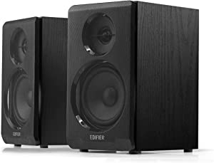 Edifier R33BT Active Bluetooth Computer Speakers - 2.0 Bookshelf Speaker - Powered Studio Monitor, Black - Pair