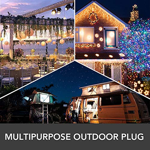 Outdoor Smart Plug, LUMIMAN Wi-Fi Outlet with 3 Socket, Compatible with Alexa and Google Home Assistant, No Hub Required, Waterproof for Indoor and Outdoor Use