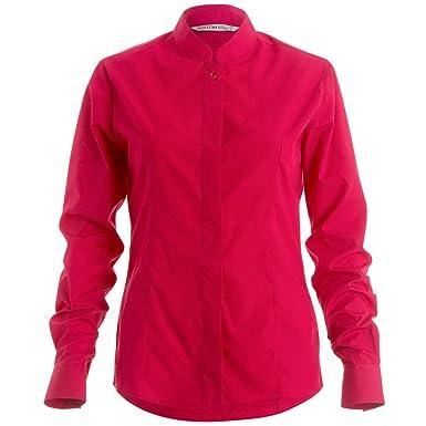 fc7e5f3fb176 Kustom Kit Womens Ladies Mandarin Collar Fitted Long Sleeve Shirt (4 US) (
