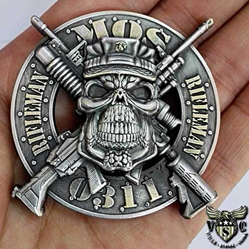 USMC-0311-Riflemen-Marine-Corps-MOS-Challenge-Coin-Double-Sided-2-Inch-Diameter-Pewter-Lead-Free