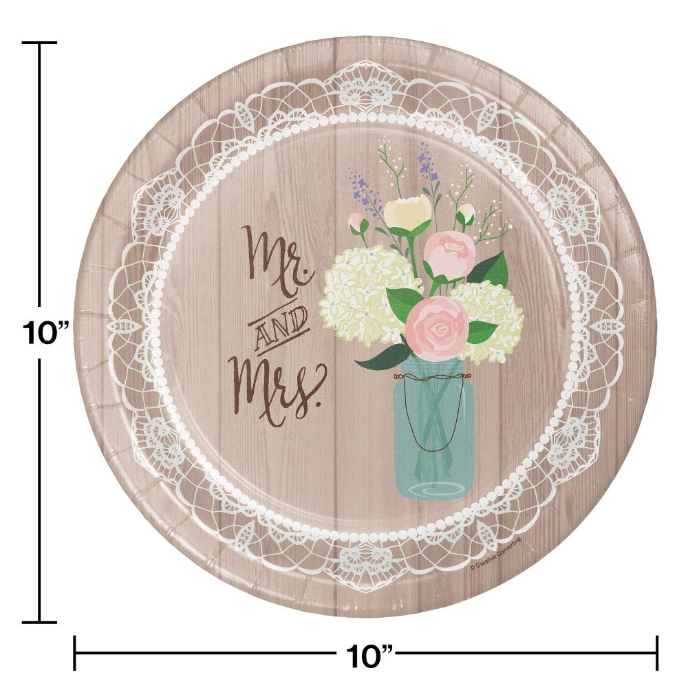 Large Rustic Wedding Bridal Shower Party Supplies Kit, Serves 24 by Creative Converting (Image #3)