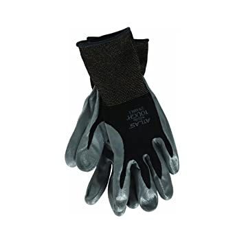 Atlas Glove NT370BBKM Medium Atlas Nitrile Tough Gloves