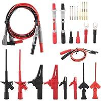 Multimeter Probe Test Lead Kit, 24PCS P1300E Replaceable Removable Digital Multimeter Electronic Probe Test Lead Kits