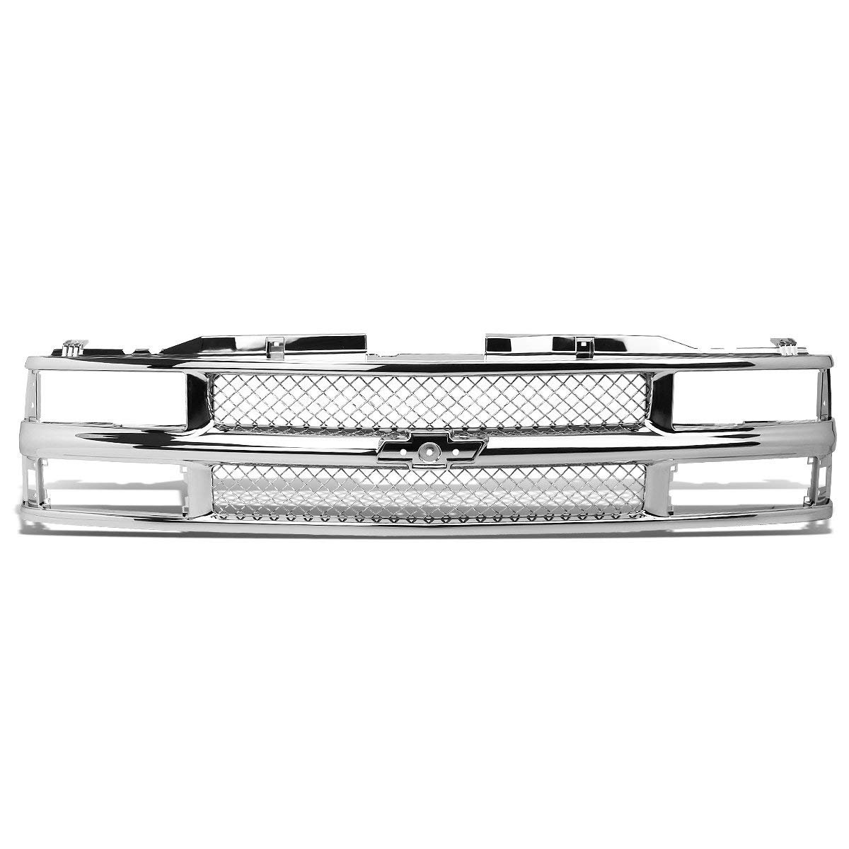 USAuto Front Bumper Chrome ABS Glossy Frame+Honeycomb Meshed Grille Guard for 94-00 CHEVY C10 C//K//TAHOE//BLAZER