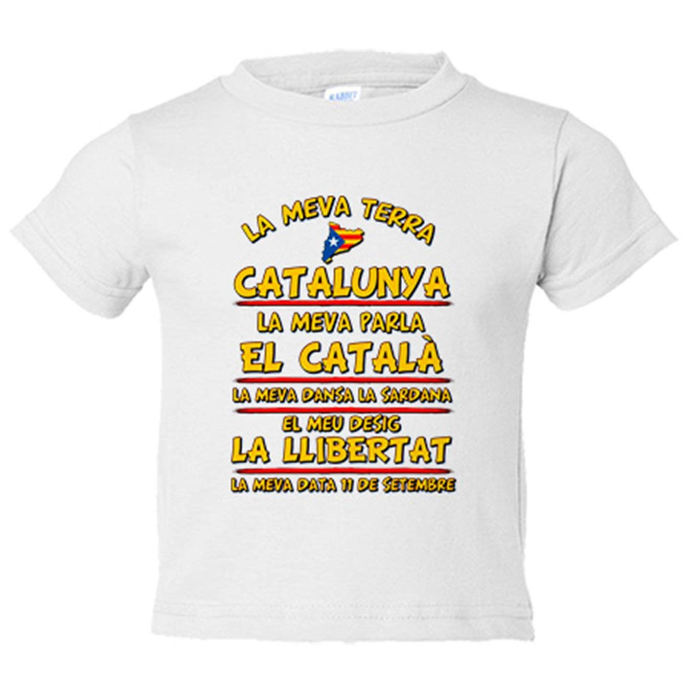 Camiseta niño La meva terra Catalunya - Blanco, 3-4 años ...