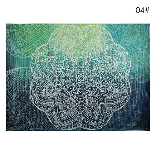 Oenbopo Wall Hanging Tapestry Indian Traditional Hippie Mandala Bohemian Magical Tapestry Wall Art, Dorm Decor Living Room Hippie Hippy Wall Hanging Tapestry ,Bedspread, Beach Throw Sun Shawl Scarf
